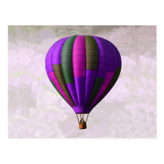 Purple and Pink Hot Air Balloon Postcard