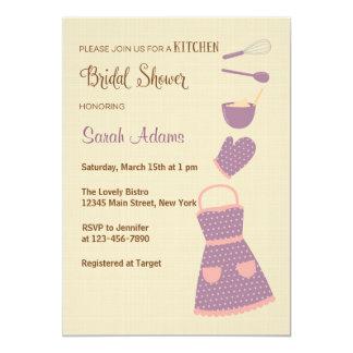 Purple and Pink Kitchen Bridal Shower Invitation