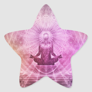 Purple and Pink Meditation Zen Star  Stickers