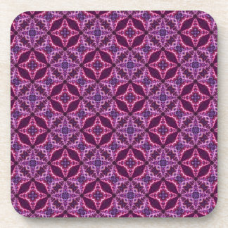 Purple And Pink Mosaic Pattern Coaster