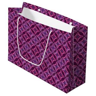 Purple And Pink Mosaic Vintage Pattern Large Gift Bag