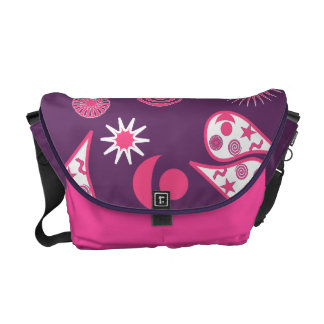 Purple and Pink Paisley Wizard II Courier Bag