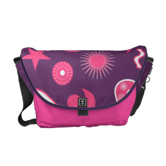 Purple and Pink Paisley Wizard Courier Bags