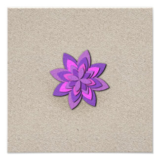 Purple and Pink Paper Flower Photograph