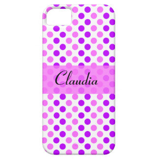Purple and Pink Polka Dots iPhone 5 Cover