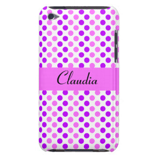 Purple and Pink Polka Dots iPod Touch Covers
