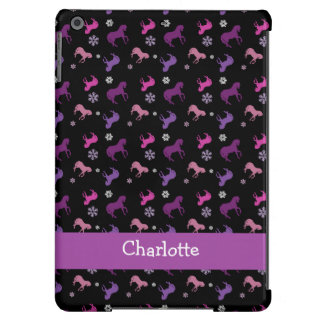 Purple and Pink Pony Winter ipad Air Case