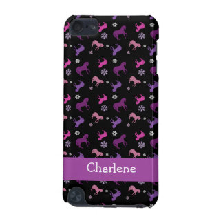 Purple and Pink Pony Winter ipod 5g Case