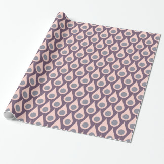 Purple And Pink Retro Drops Wrapping Paper
