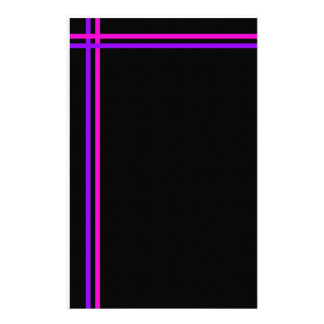Purple and Pink Simple Stripes Stationery