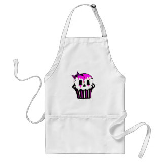 purple and pink skull cupcake standard apron