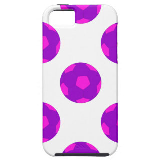 Purple and Pink Soccer Ball Pattern iPhone 5 Cover