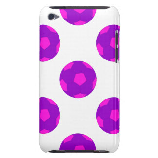 Purple and Pink Soccer Ball Pattern iPod Touch Case