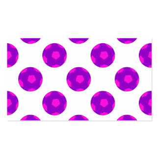 Purple and Pink Soccer Ball Pattern Pack Of Standard Business Cards