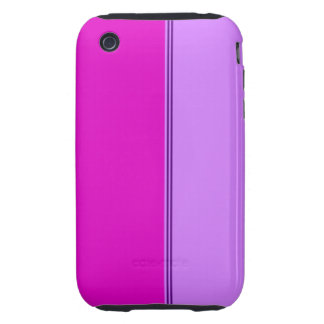 Purple and pink stripes tough iPhone 3 cover