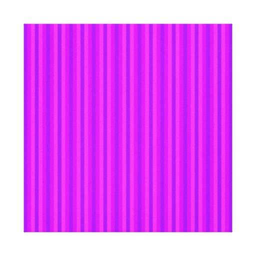 Purple and Pink Stripey Hippie Pattern Stretched Canvas Prints