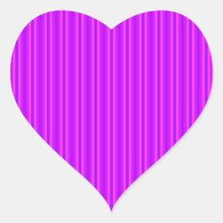 Purple and Pink Stripey Hippie Pattern Heart Sticker