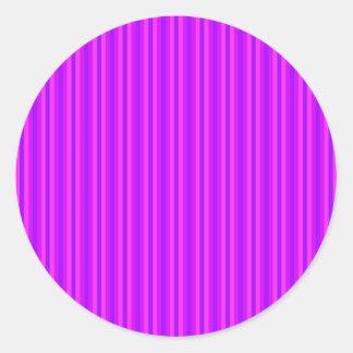 Purple and Pink Stripey Hippie Pattern Round Sticker