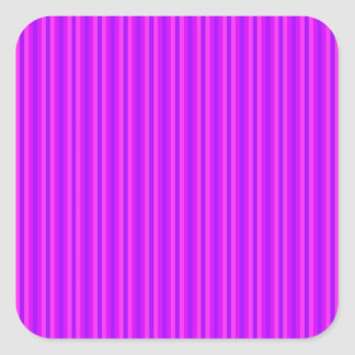 Purple and Pink Stripey Hippie Pattern Square Stickers