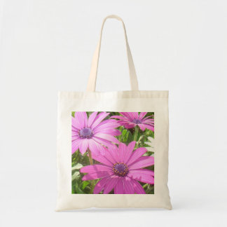 Purple And Pink Tropical Daisy Flower Budget Tote Bag