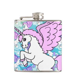 Purple and Pink Unicorn Pattern Flask