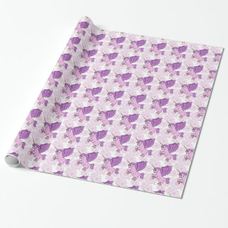 Purple and Pink Unicorn Pattern Wrapping Paper