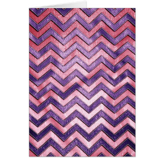 Purple and Pink Zig Zag Greeting Card