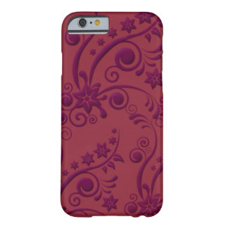 Purple and Red Floral Embossed Look iPhone 6 case Barely There iPhone 6 Case