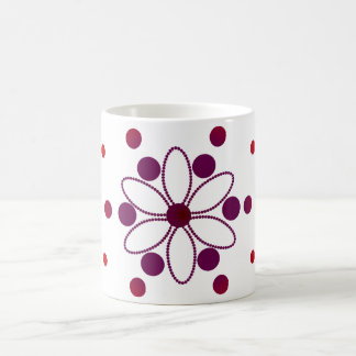 Purple and red flowery circles basic white mug