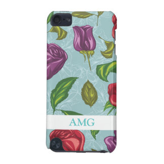 Purple and Red Roses Illustrations iPod Touch (5th Generation) Cover