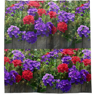 Purple And Red Verbena Shower Curtain