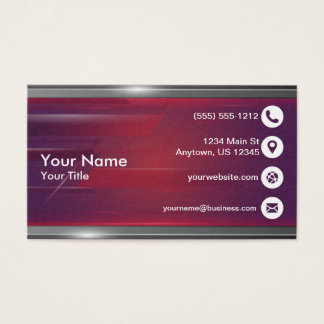 Purple and silver business card