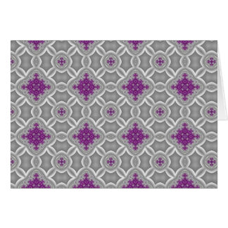 Purple and Silver Elegance Greeting Card