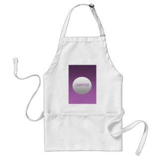 Purple And Silver Grandma Standard Apron