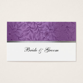Purple and Silver Metallic Place Cards