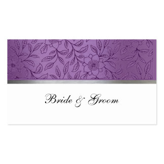 Purple and Silver Metallic Place Cards Business Card Templates