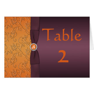 Purple and Tangerine Table Card