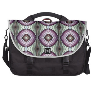 Purple and teal geometric circle pattern commuter bag