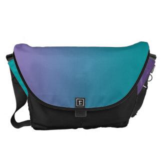 Purple And Teal Large Messenger Bag