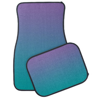 """""""Purple And Teal Ombre"""" Car Mat"""