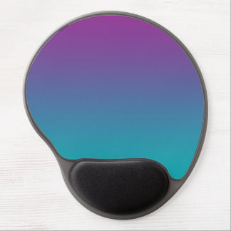 """Purple And Teal Ombre"" Gel Mouse Mat"
