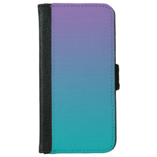 """Purple And Teal Ombre"" iPhone 6 Wallet Case"