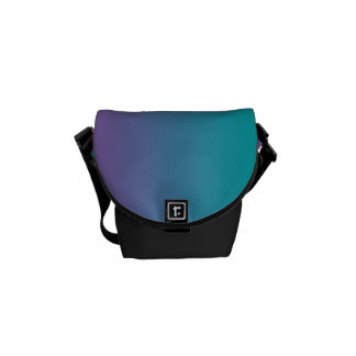 """""""Purple And Teal Ombre"""" Messenger Bags"""