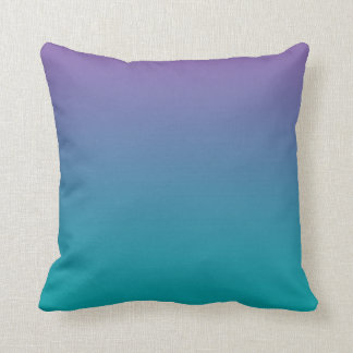 """Purple And Teal Ombre"" Throw Pillow"