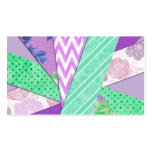 Purple and Teal Pattern Strips Business Card