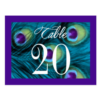 Purple and Teal Peacock Fantasy Postcards