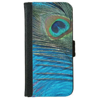 Purple and Teal Peacock iPhone 6 Wallet Case