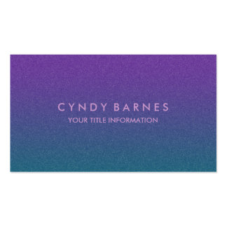 Purple and Teal Speckled Ombre Pack Of Standard Business Cards