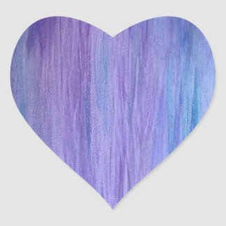 Purple and Turquoise Fusion Heart Sticker