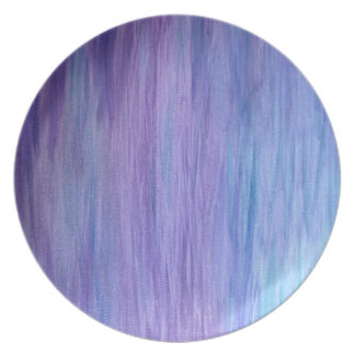 Purple and Turquoise Fusion Plate